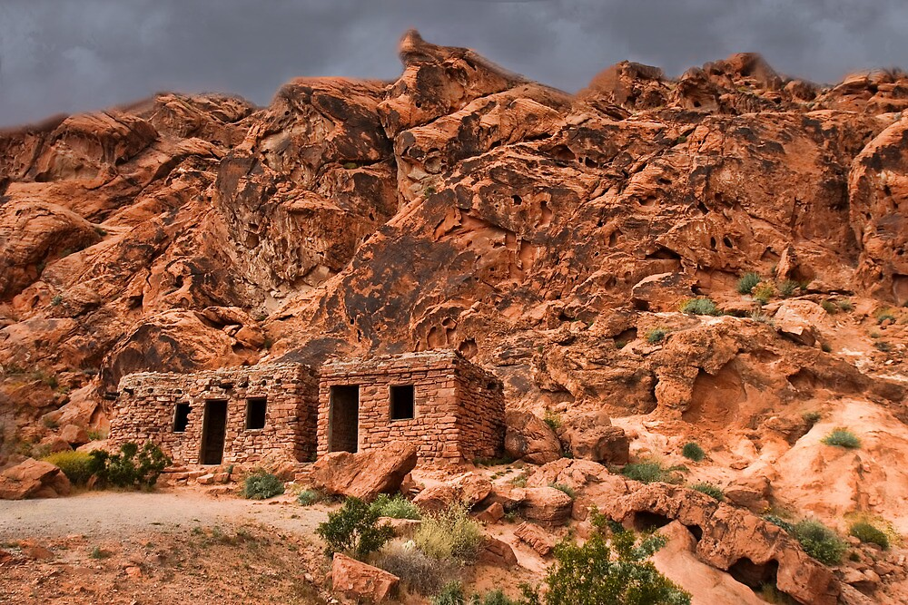 rock cabins at valley of fire state park near las