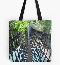 A hanging bridge experience... Tote Bag