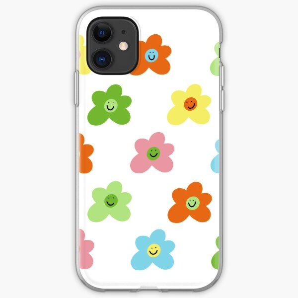 Golf le fleur inspired flower smiley pattern iPhone Soft Case