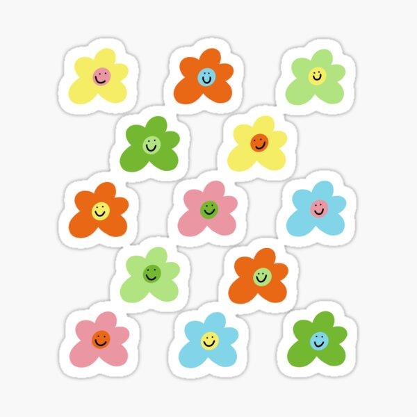 Motif de smiley fleur inspiré du golf le fleur Sticker