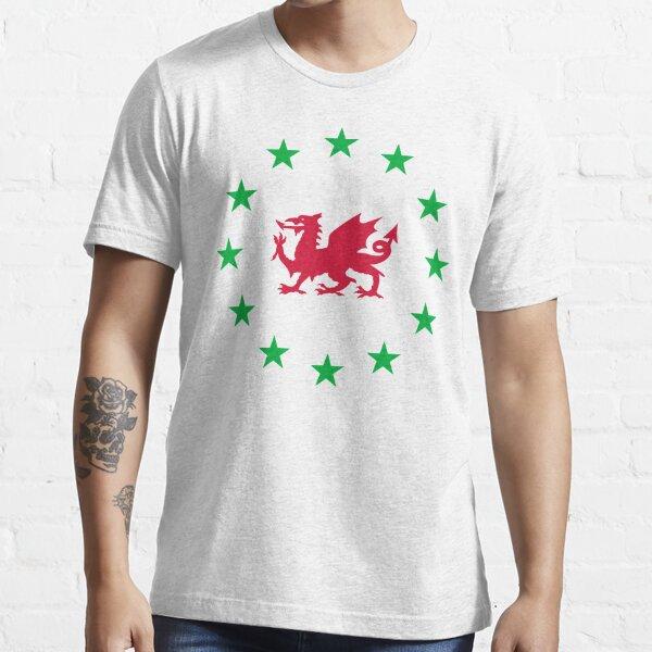 Welsh European, Cymru Ewrop, EU, Welsh Independence Essential T-Shirt