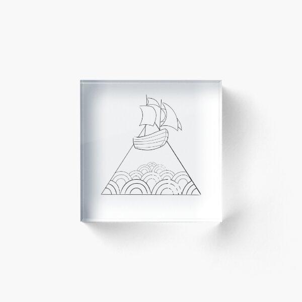 Floating Trade Ship Acrylic Block