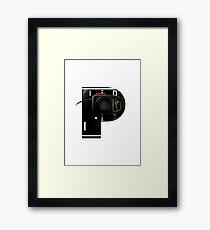 Geek letter P Framed Print