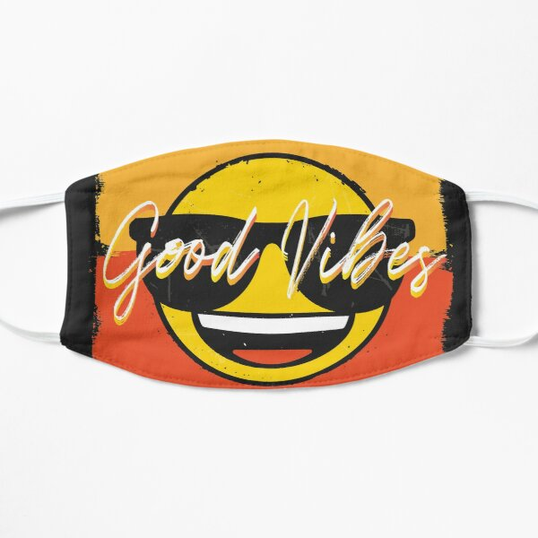 emoji - Good Vibes Smiley Face Wearing Sunglasses Mask