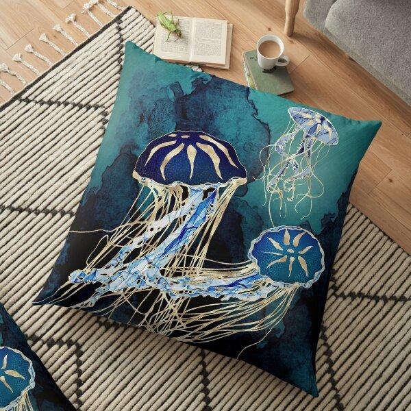 Metallic Jellyfish III Floor Pillow