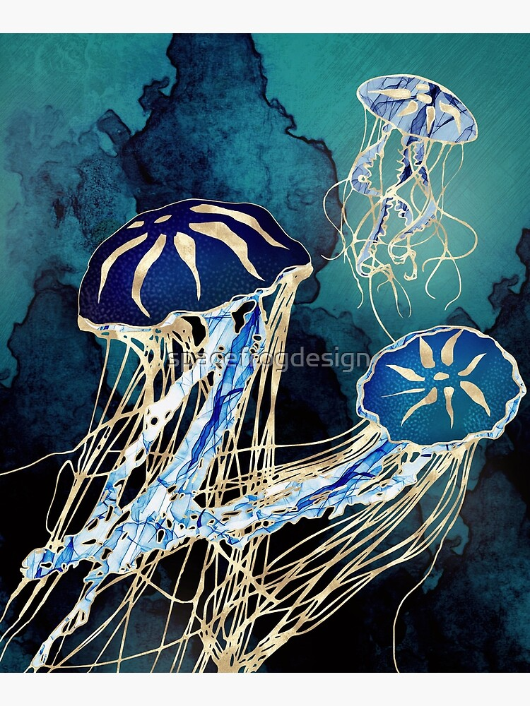Metallic Jellyfish III by spacefrogdesign