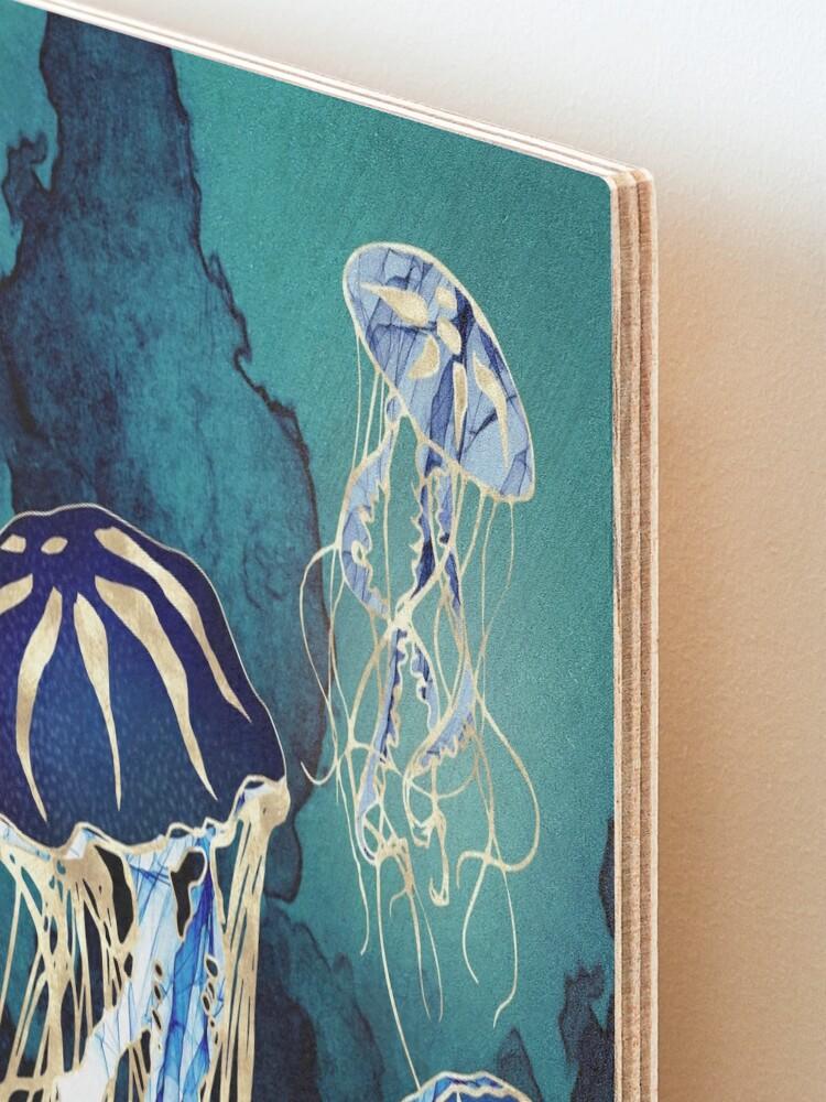 Alternate view of Metallic Jellyfish III Mounted Print