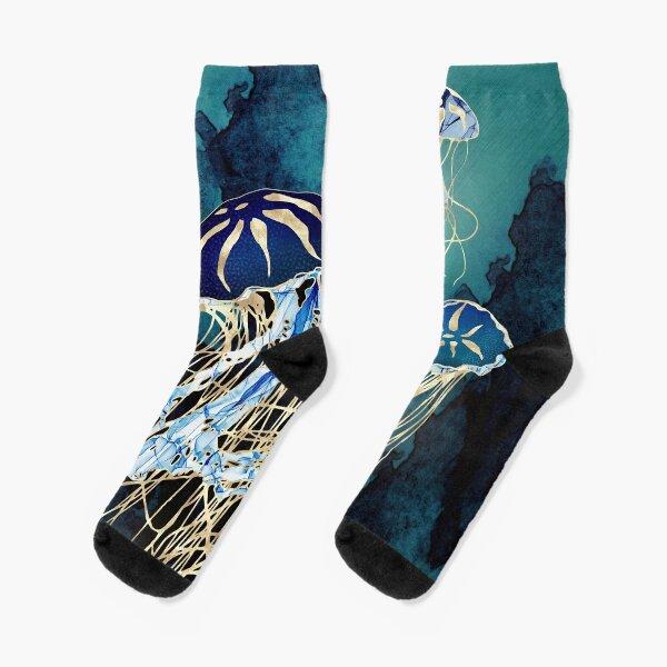 Metallic Jellyfish III Socks