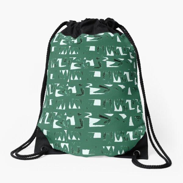 Primitive symbols dark green  Drawstring Bag