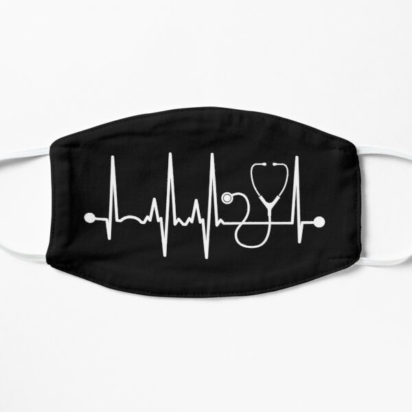 Stethoscope Heartbeat Flat Mask