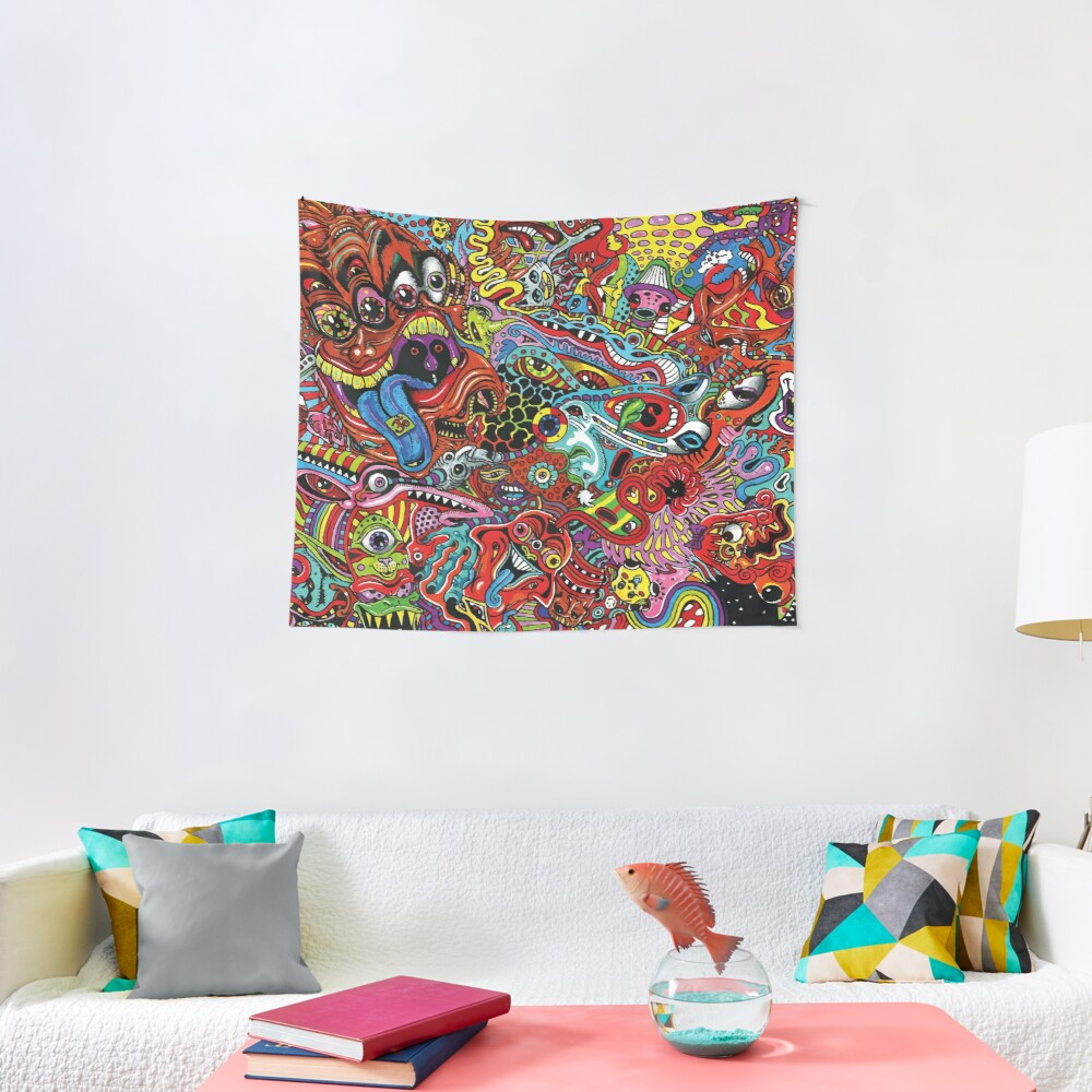 Psychedelic Acid Monster Tapestry