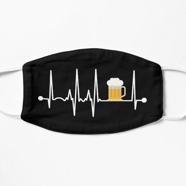 Beer Heartbeat Flat Mask