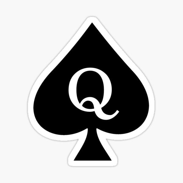 Queen of Spades Pattern (dark) Sticker