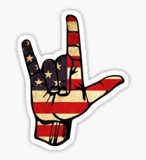 Rock On America Sticker