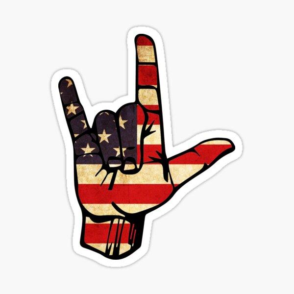 Rock On America Sticker