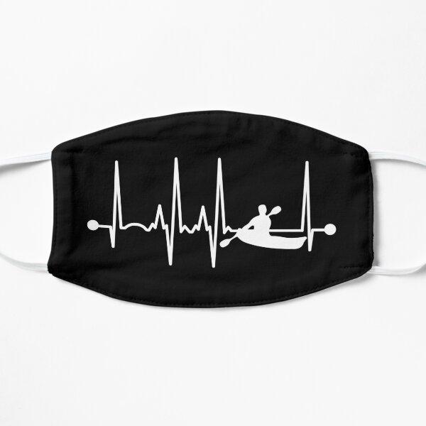 Kayaking Heartbeat Flat Mask