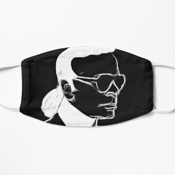 Karl Lagerfeld Black And White Portrait On Shirts Bags And Home Decor Mask
