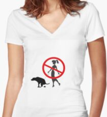 BadOwner Women's Fitted V-Neck T-Shirt