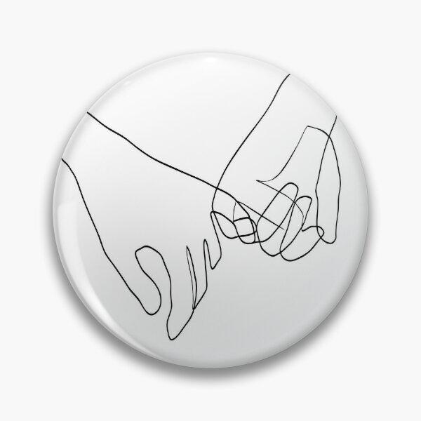 Pinky Swear - Line Art Pin