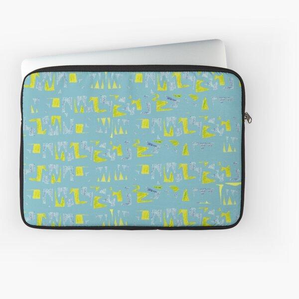 Primitive symbols turquoise and yellow Laptop Sleeve