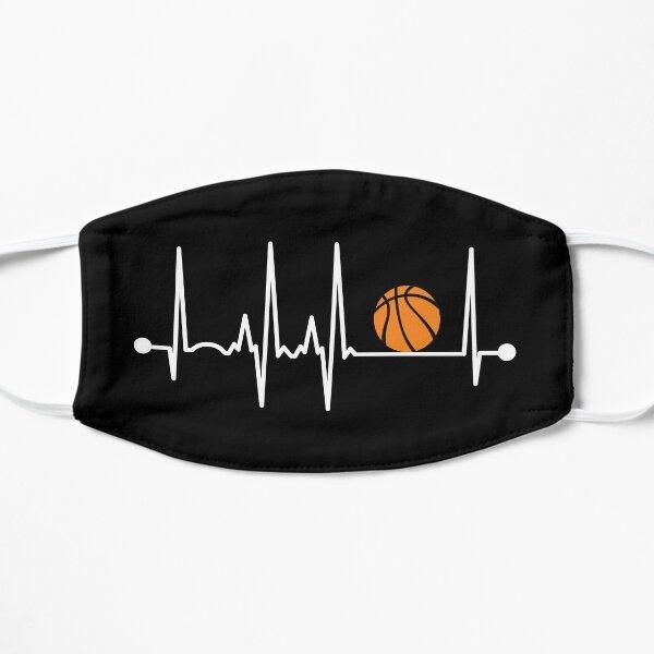 Basketball Heartbeat Flat Mask