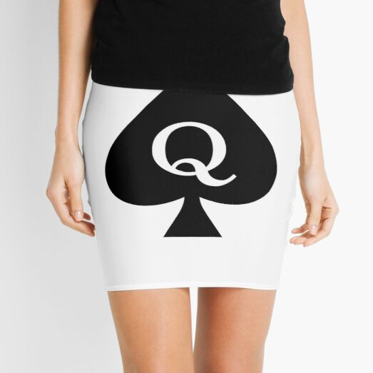 Queen of Spades (white) Mini Skirt