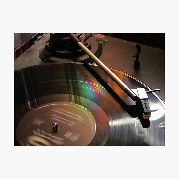 Vinyl Rainbow Photographic Print