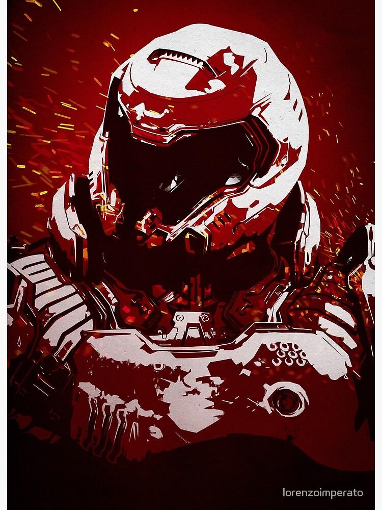 Doom Slayer Art Board Print By Lorenzoimperato Redbubble