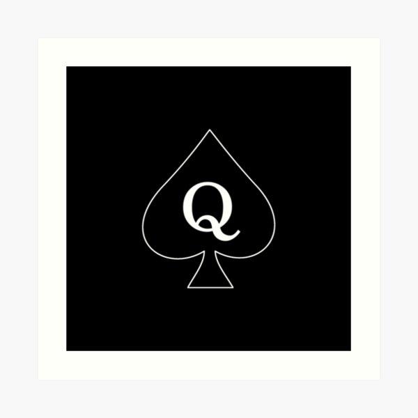 Queen of Spades (dark) Art Print