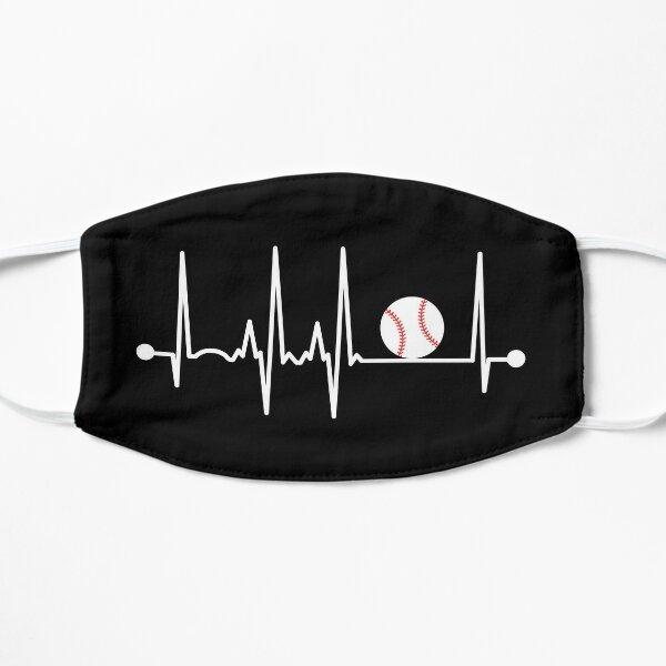 Baseball Heartbeat Flat Mask