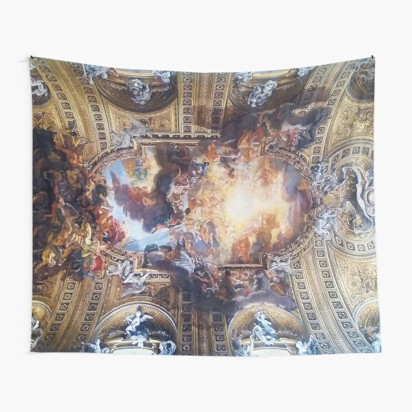 Ceiling of Il Gesu Church in Rome Tapestry