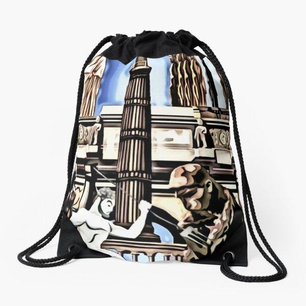leo • theo | Ancient times Drawstring Bag