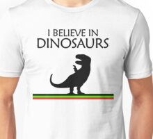 I Believe In Dinosaurs title artwork (black design) Unisex T-Shirt