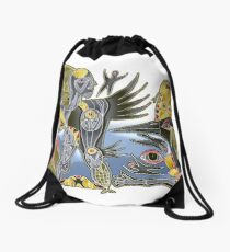 crowshe tree Drawstring Bag