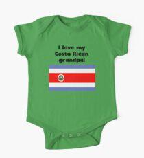 I Love My Costa Rican Grandpa One Piece - Short Sleeve