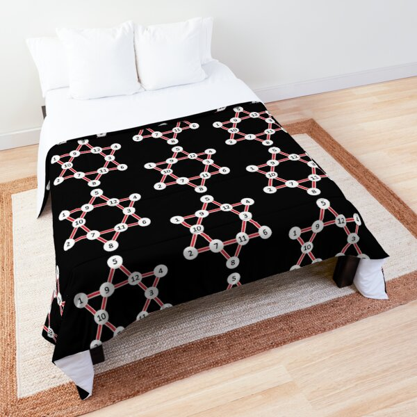 Super Magic Star Red with Numbers Comforter