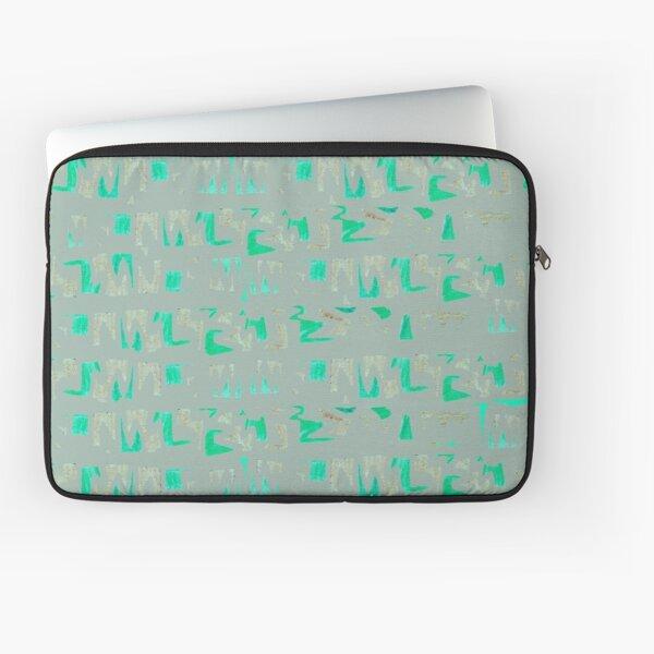 Primitive symbols grey and green Laptop Sleeve