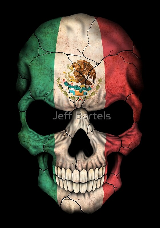 Quot Mexican Flag Skull Quot Art Prints By Jeff Bartels Redbubble