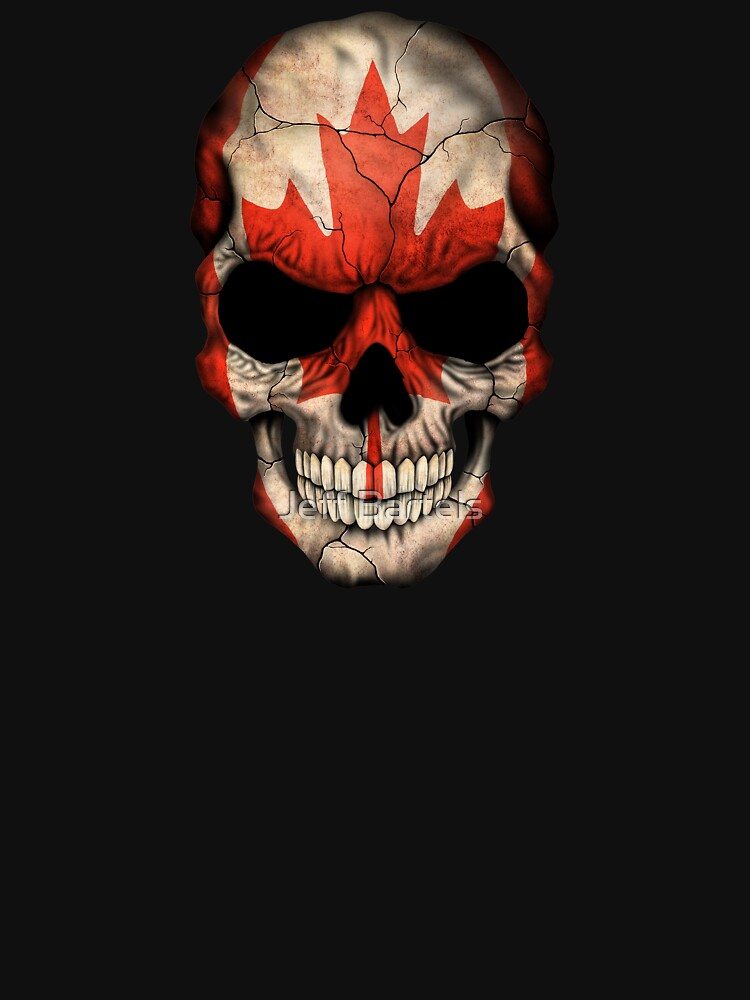 canadian flag skull pullover hoodie by jeffbartels redbubble