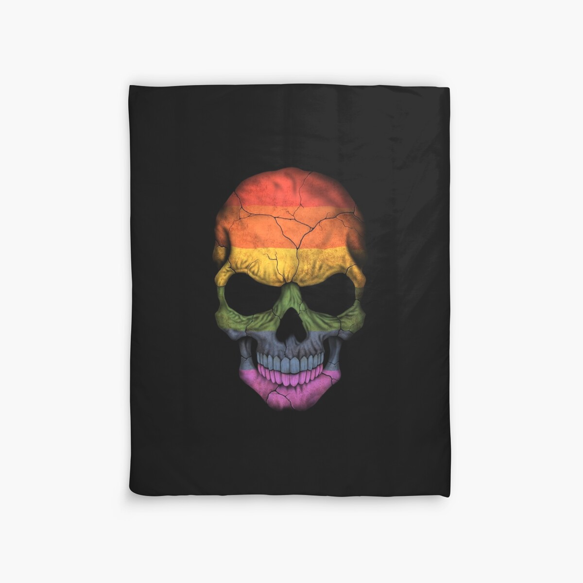 Quot Gay Pride Rainbow Flag Skull Quot Duvet Covers By Jeff