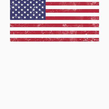 American Flag Shirt Grunge  by lickquid