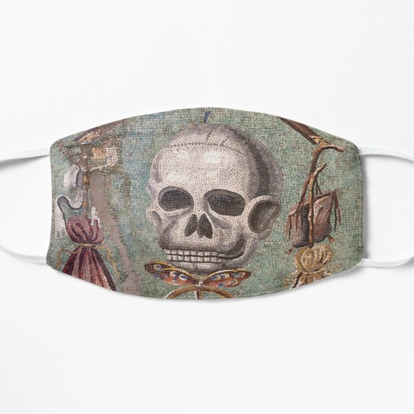 Memento Mori mosaic from Pompeii Flat Mask
