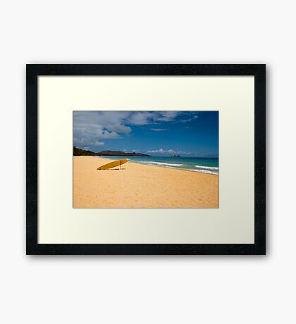 Only me and a life guard Framed Print