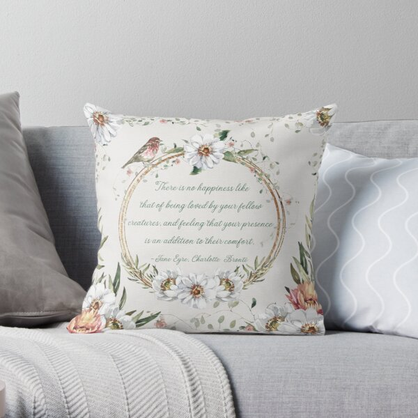 Jane Eyre | Charlotte Brontë Throw Pillow