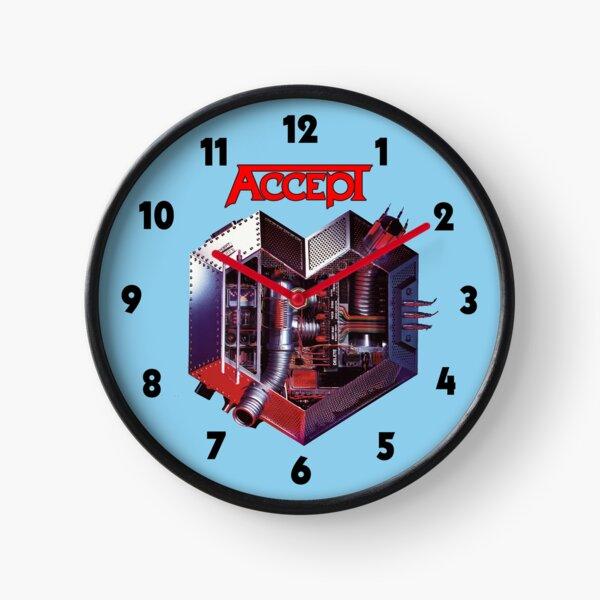 Accept: Metal Heart Clock