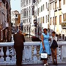 Bridge over a small canal - Venice by Gilberte