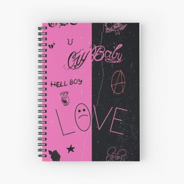 Lil Peep Tattoo Pack Compilation Design #1 Spiral Notebook