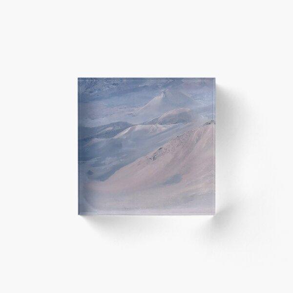 Windswept Other World (Pastel Blue) Acrylic Block
