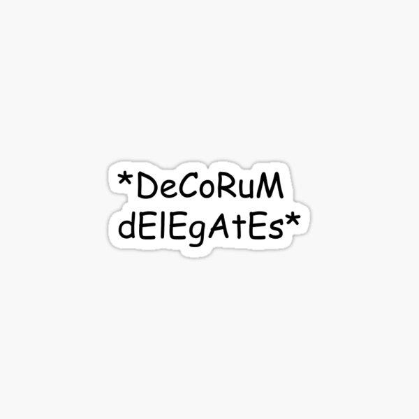 DECORUM Sticker