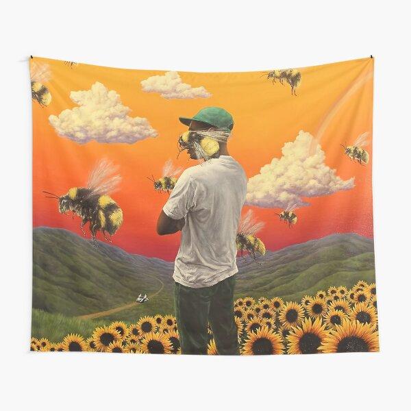flower bee boy Tapestry